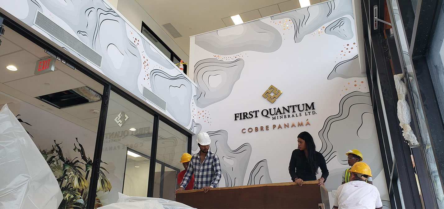 Dolphin Graphics Project - First Quantum Ltd - Large Format - Wall-Mural - Signage - Lobby